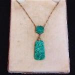 vintage 1920s chinese 14k jadeite necklace