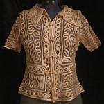 vintage 1920s silk tape lace blouse