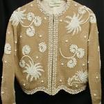 vintage 1950s gene shelly lambswool beaded cardigan sweater