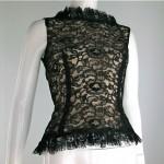 vintage 1950s open back lace blouse