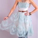 vintage 1950s tulle prom dress