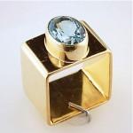 vintage 1960s cartier square 2ct aquamarine 18k gold ring