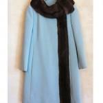vintage 1960s saks fifth avenue fur trim coat
