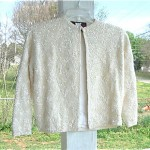 vintage 1960s sequin cropped jacket