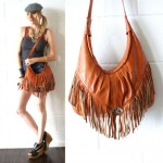 vintage 1970s fringe shoulder bag