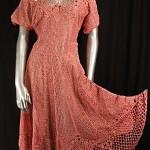 vintage 1970s lims crochet dress