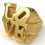 vintage 1970s robert indiana love ring