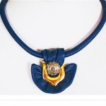 vintage 1980s leather necklace