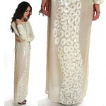vintage 1980s sequin beaded silk evening dress