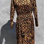 vintage 1980s yves saint laurent leopard dress