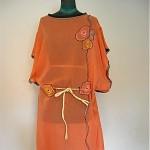 vintage art deco embroidered sheer robe dress