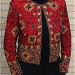 vintage beaded silk jacket