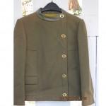 vintage bonnie cashin sills leather trim wool blazer jacket