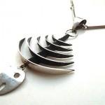 vintage carsi sterling skeleton fish necklace
