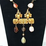vintage castlecliff semi precious stone necklace