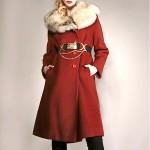 vintage fox fur collar coat