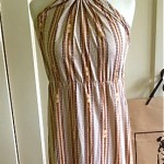 vintage gucci halter maxi dress