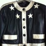 vintage leather star jacket