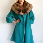 vintage lilli ann fox collar coat