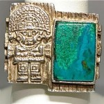 vintage mexico sterling turquoise ring