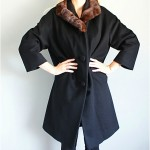 vintage midcentury lilli ann fur collar coat