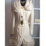 vintage midcentury lilli ann wool yarn trim coat