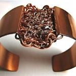 vintage midcentury matisse copper and enamel bracelet