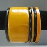 vintage set six bakelite bracelets