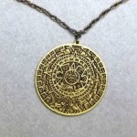 vintage tortolani aztec mayan pendant necklace