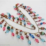 vintage venetian glass drop necklace