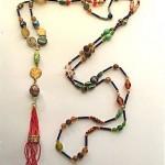 vintage venetian glass flapper necklace