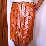 vintage versace leather skirt