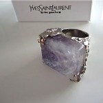 vintage ysl amethyst ring