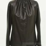 vintage ysl leather blouse
