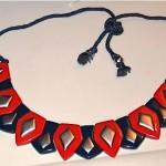 vintage ysl plastic necklace
