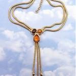 vintage monet flex chain necklace