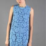 70s cotton linen lace dress