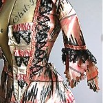 antique rococo silk gown