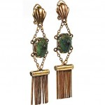 victorian egyptian scarab earrings