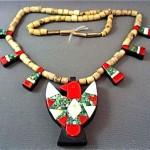 vintage 1920s santo domingo navajo thunderbird necklace
