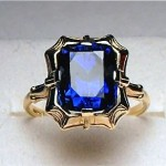 vintage 1920s sapphire ring