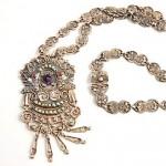 vintage 1939 melecio rodriguez silver necklace
