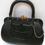 vintage 1940s artraft alligator structured handbag