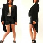 vintage 1940s wool tuxedo tail jacket
