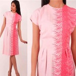 vintage 1950s embroidered day dress