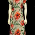 vintage 1950s hawaiian silk cheongsam dress