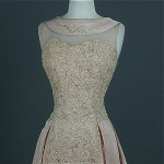 vintage 1950s illusion beaded wedding or party dress ru