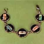 vintage 1950s rotary phone bracelet