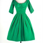 vintage 1950s taffeta party dress