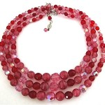 vintage 1958 christian dior glass bead necklace